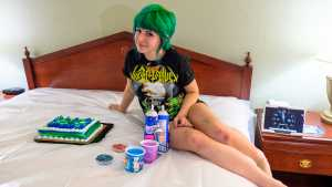 Messy adult cake pictures sitting